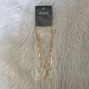 3/$20 Gold multi length and thickness necklaces